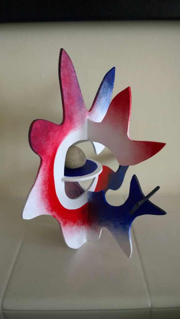 red blue atomic star